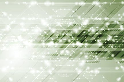 Abstract tech sparkling shiny green background