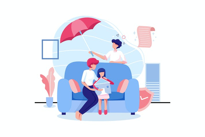 Thumbnail for Familienlebensversicherungskonzept