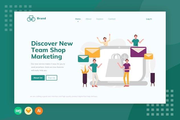 E-Commerce Email Receive - Illustration Web