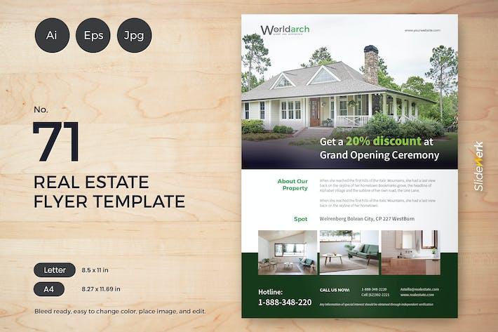 Thumbnail for Real Estate Flyer Template 71 - Slidewerk