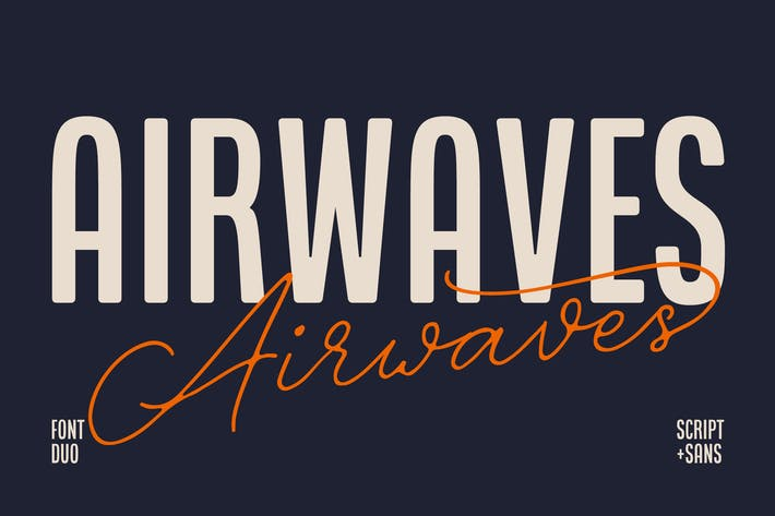 Thumbnail for Airwaves Font Duo