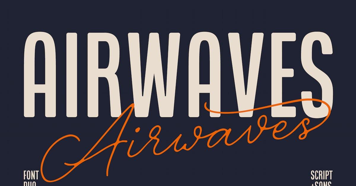 Download Airwaves Font Duo by hindiamaya