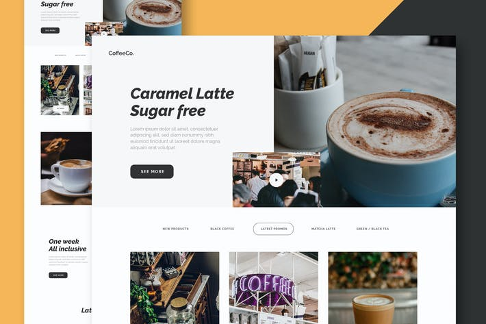 Thumbnail for Coffee Shop - Website