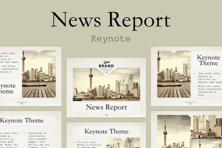 Thumbnail for News Report Keynote Template