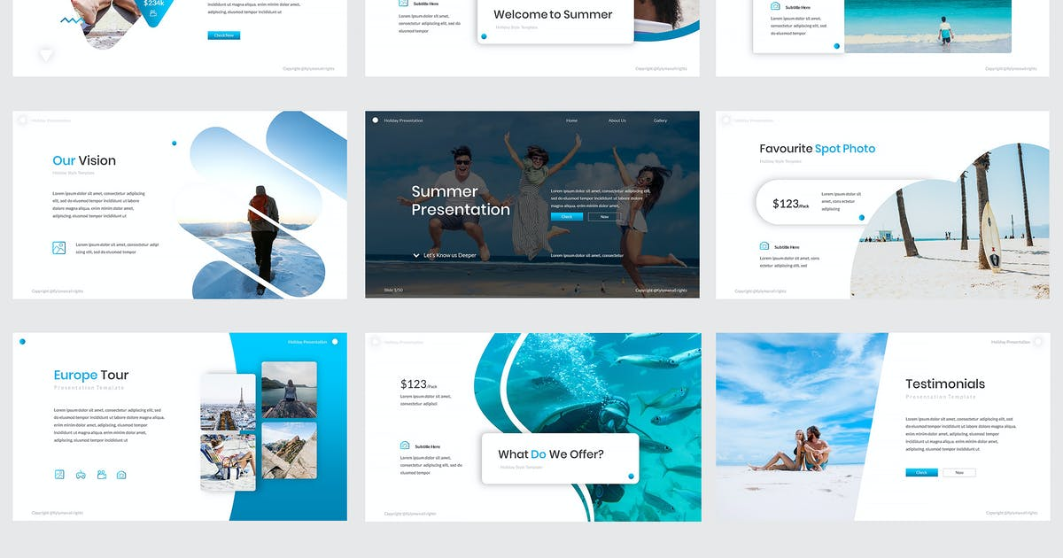 Download Summer Powerpoint Template by kylyman