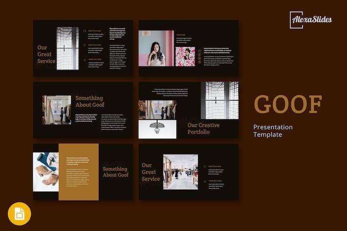 Thumbnail for Goof - Fashion Google Slides Presentation Template