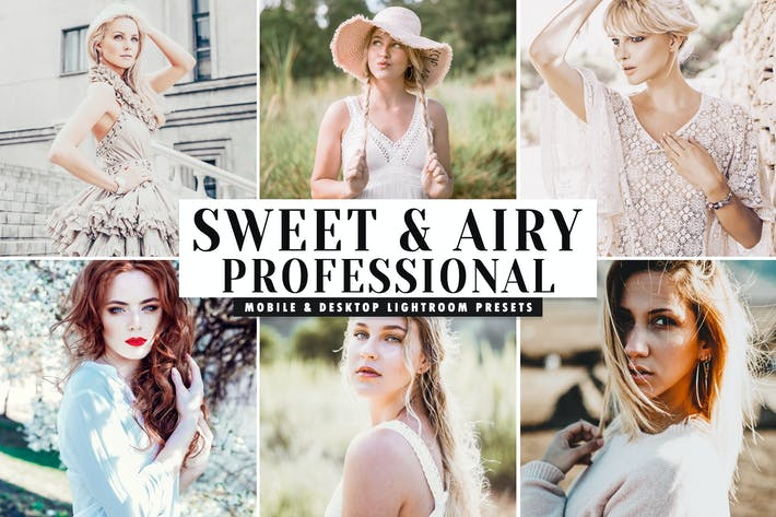 Thumbnail for Sweet & Airy Mobile & Desktop Lightroom Presets