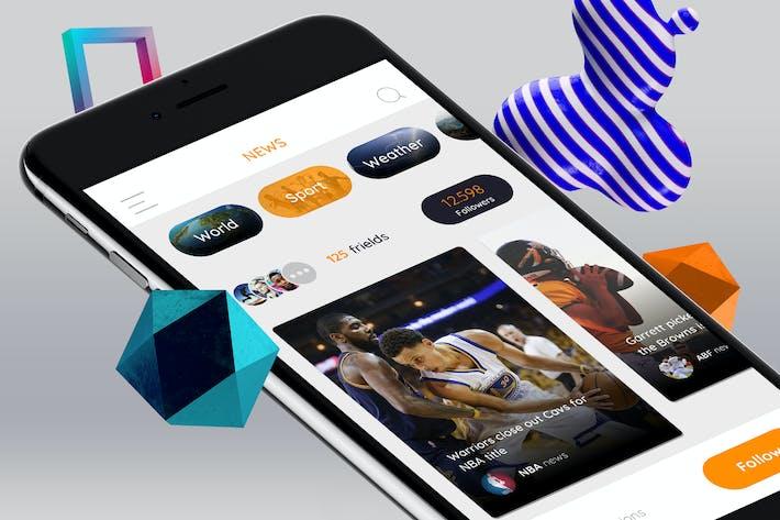 Thumbnail for News Card Mobile UI - TR