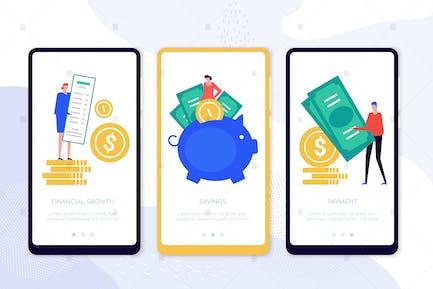 Money Flow Smartphone-Webseiten
