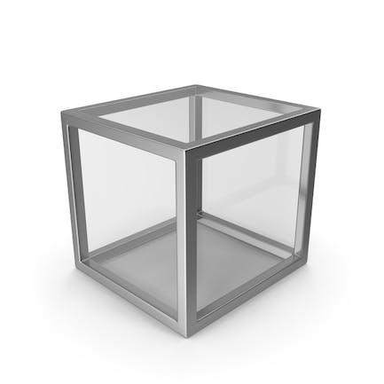 Cubo de cristal plateado