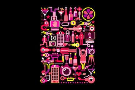 Nachtclub Disco Party Vektor illustration