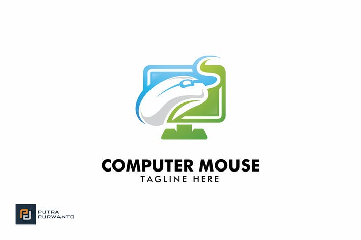 Cover Image For Computer Mouse - Logo Template