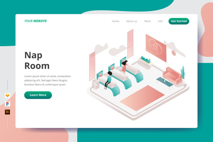Thumbnail for Nap Room - Landing Page