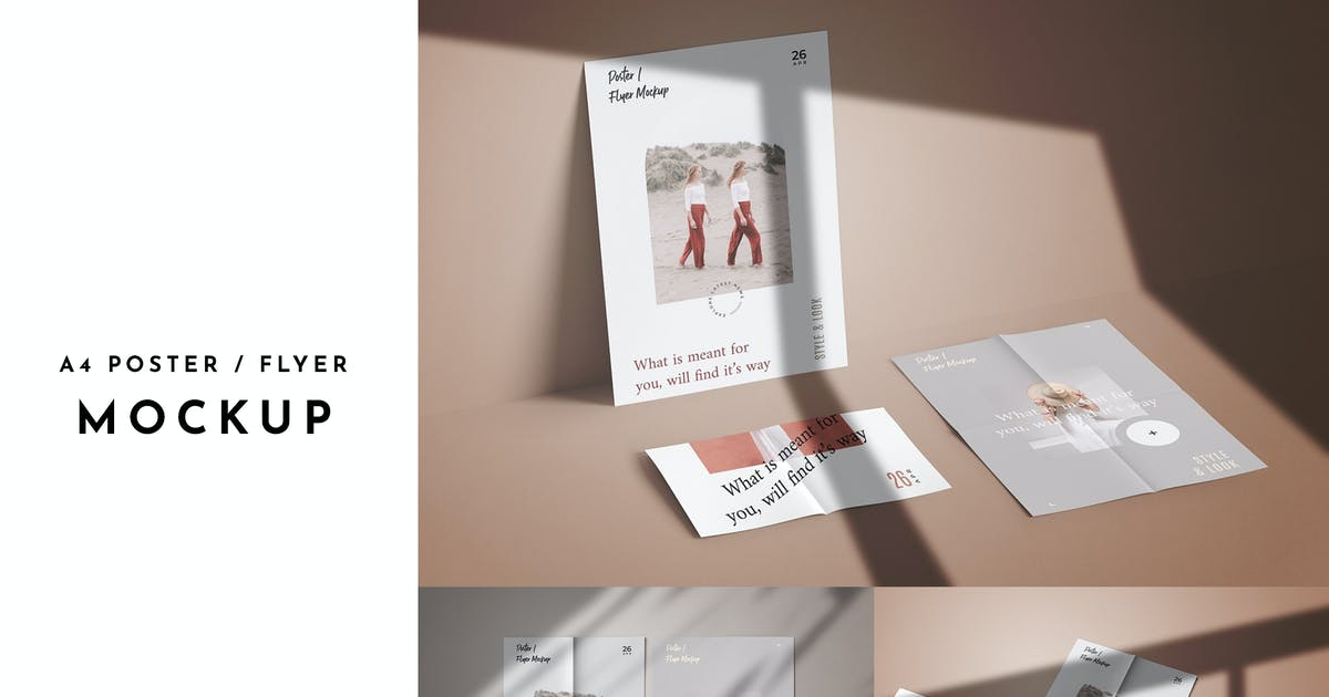Download 3 Psd A4 Poster/Flyer Mockup by GraphicGata