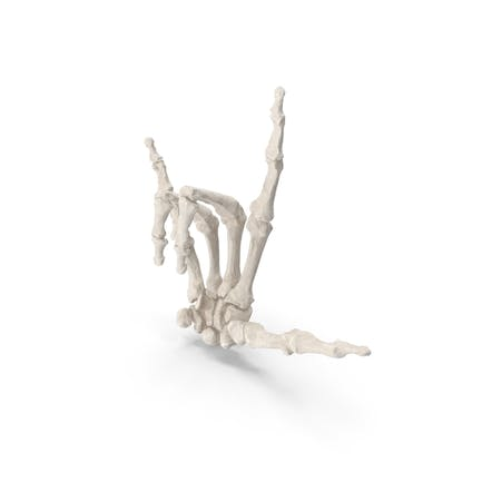Skeletal I Love You Signo