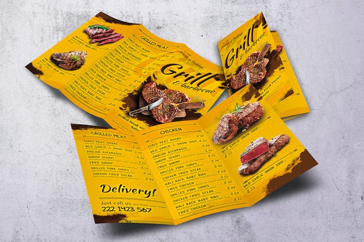 Thumbnail for Barbecue Trifold A4 & US Letter Food Menu