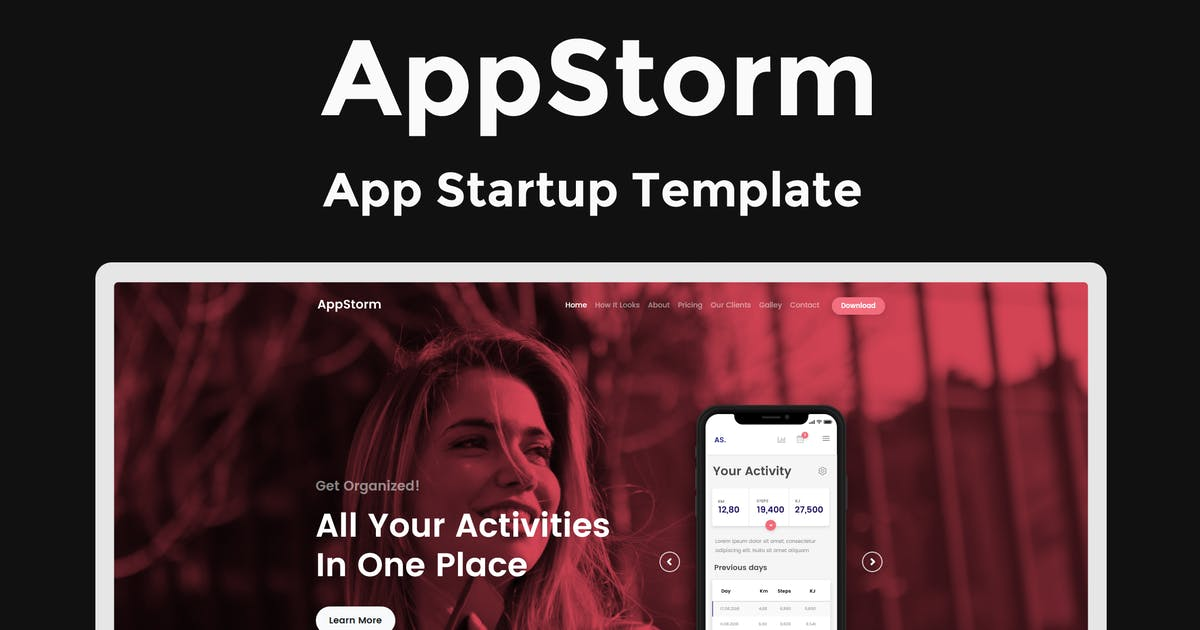 Download AppStorm - App Startup Template by ThemeStarz
