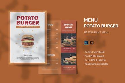 Potato Burger - Restaurant Menu