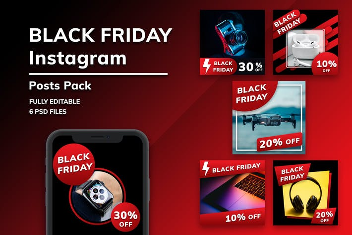 Thumbnail for Black Friday Lot de messages Instagram