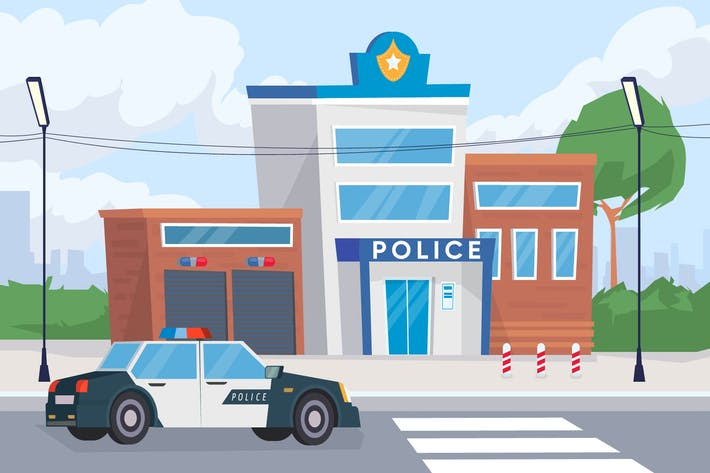 Thumbnail for Police Department - Illustration Background