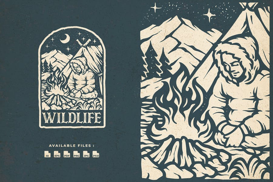 Wild Life Hand Drawn logo