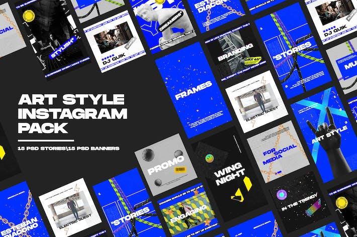 Thumbnail for Art Style Instagram Pack