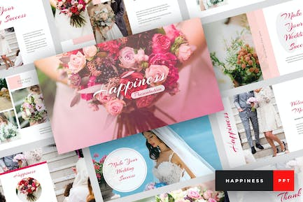 Happiness - Wedding PowerPoint Template