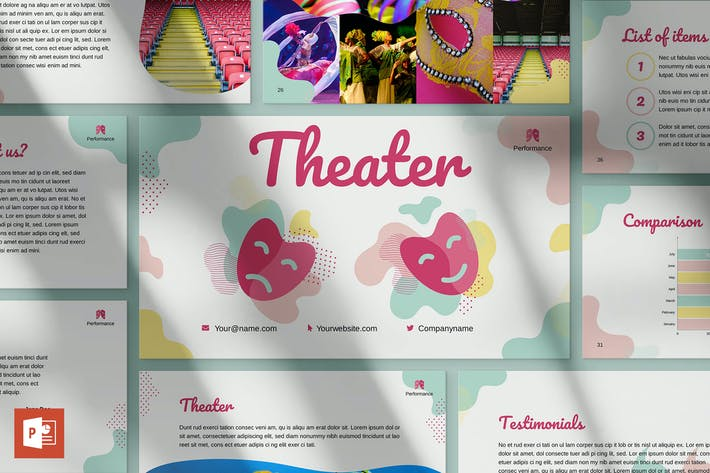 Thumbnail for Theater PowerPoint Presentation Template