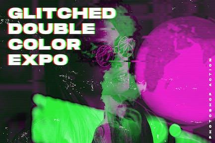 Glitched Double Color Exposure Photoshop Action
