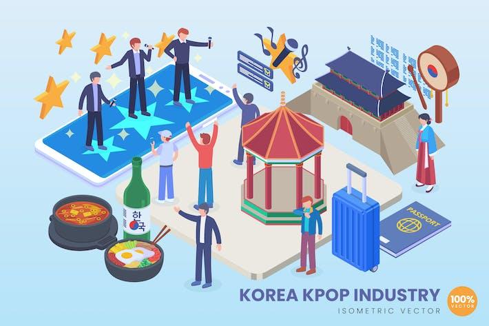 Thumbnail for Isometric Korea Kpop Industry Vector Concept