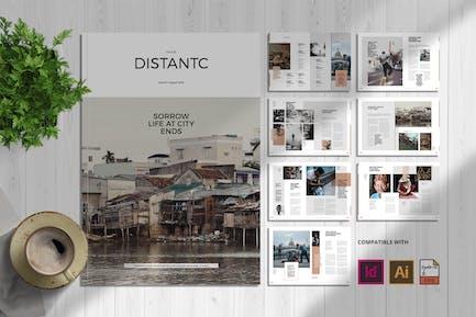 Social Distantc   Magazine Template