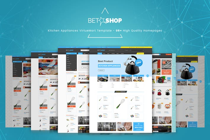 Cover Image For BetaShop - Kitchen Appliances VirtueMart Template