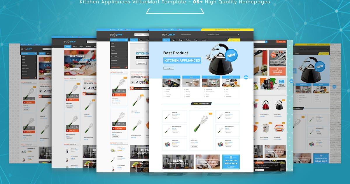 Download BetaShop - Kitchen Appliances VirtueMart Template by vinagecko