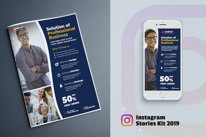 Business Marketing Flyer & Instagram Stories