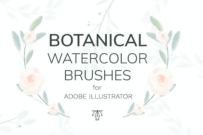 Thumbnail for Vector botanical watercolor brushes