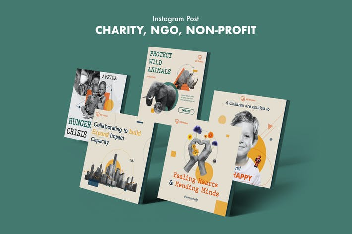 Thumbnail for Charity, NGO, Non-Profit Instagram Post