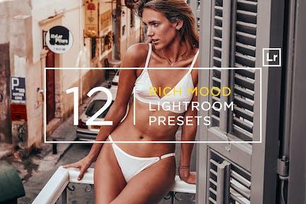 12 Rich Mood Lightroom Presets