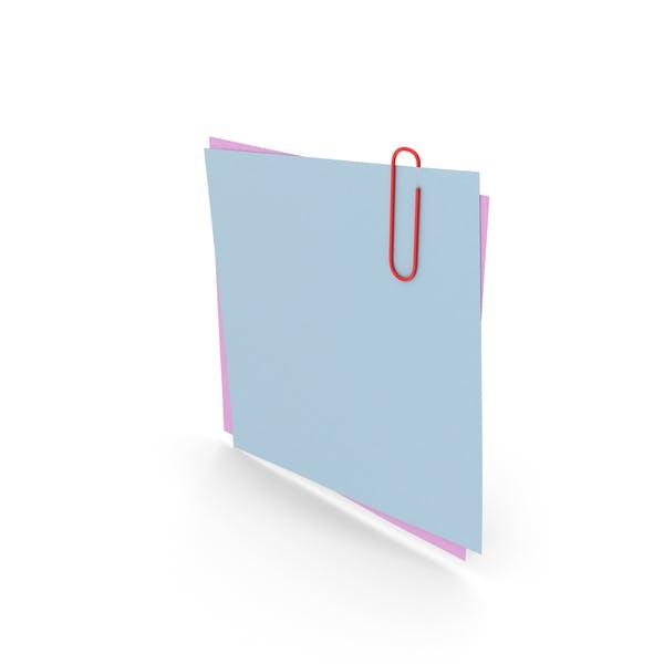Бумаги со скрепкой
