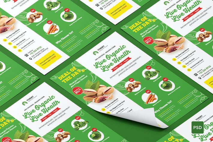Thumbnail for Organic Market, Fresh Food Flyer