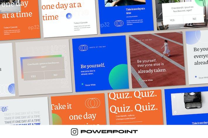 Thumbnail for Современный стильный - Instagram шаблон Powerpoint