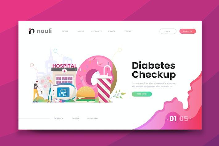 Thumbnail for Diabetes Checkup Web PSD and AI Vector Template