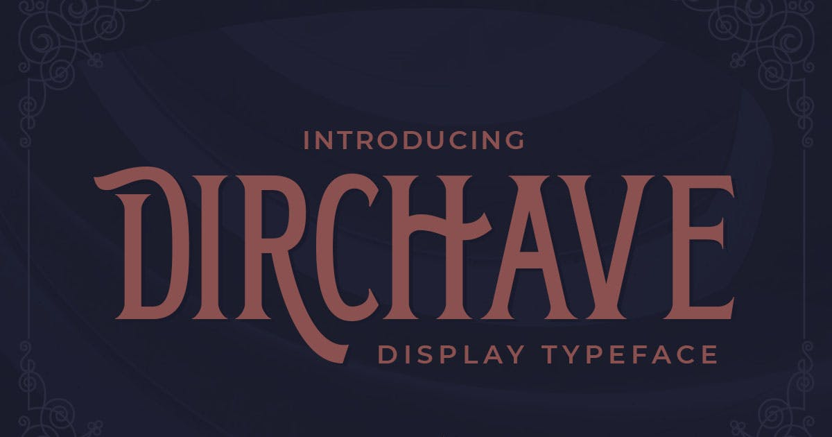 Download Dirchave - Display Typeface by Rillatype