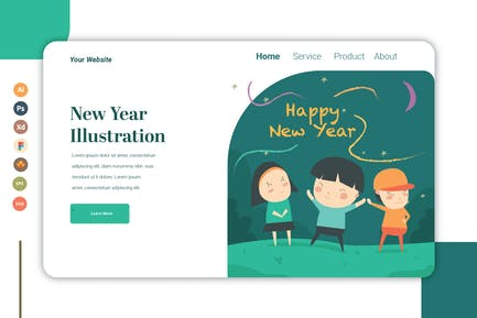 New Year - Landing Page Template