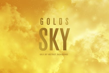 Gold SKY Abstrakte Hintergründe