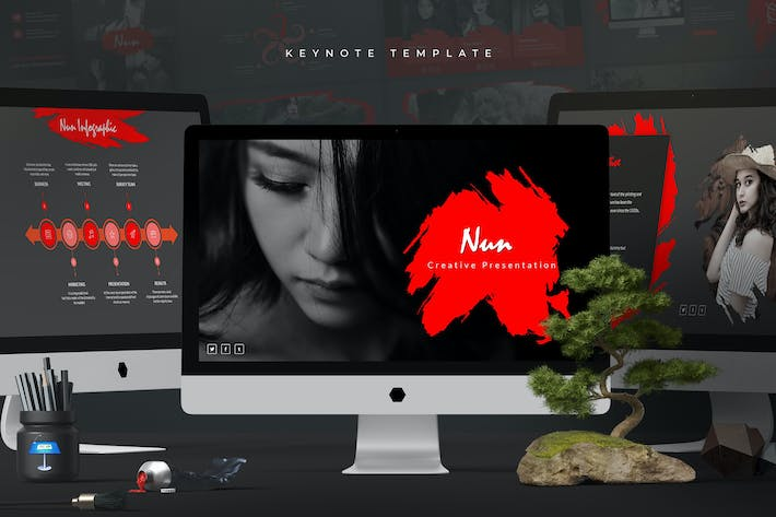 Thumbnail for Nun - Keynote Template