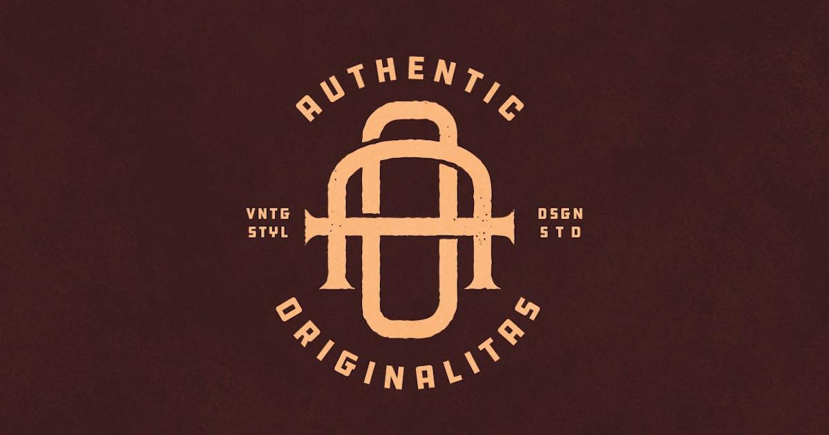 AO Vintage Monogram Logo by VisualColony