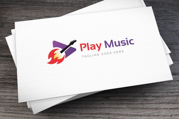Thumbnail for Play Music Logo Template