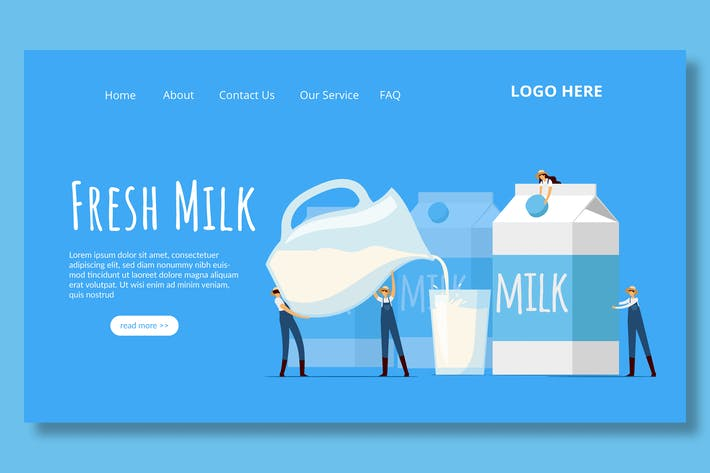 Thumbnail for Milk Dairy - Landing Page