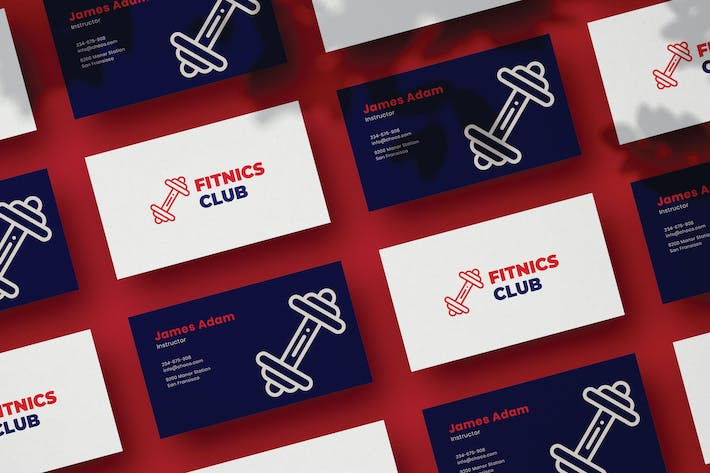 Thumbnail for Fitness Business Card
