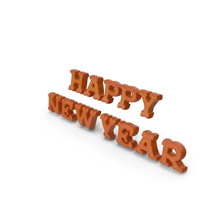 Frohes neues Jahr-Stil